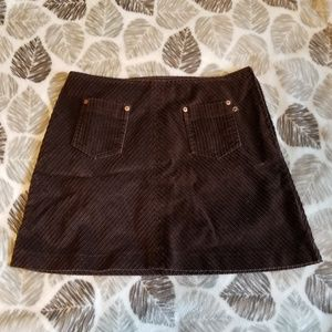 Vintage corduroy mini skirt